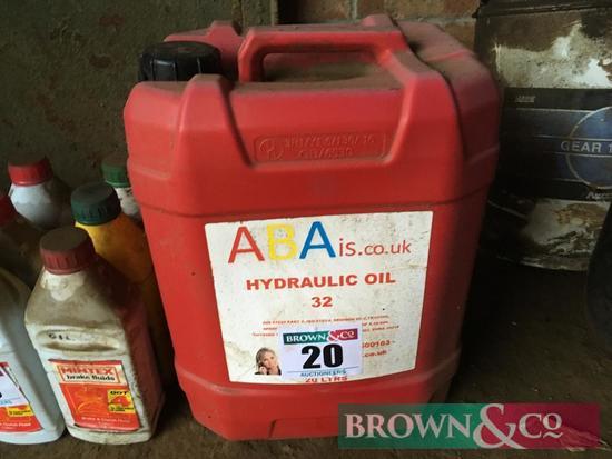 Quantity hydraulic oil