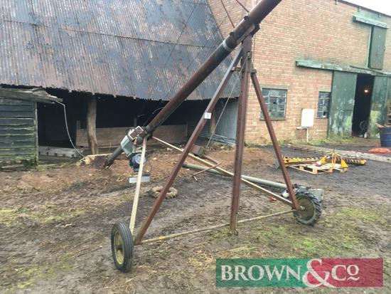 Grain auger 6 inch diameter approx 8m length, 3ph