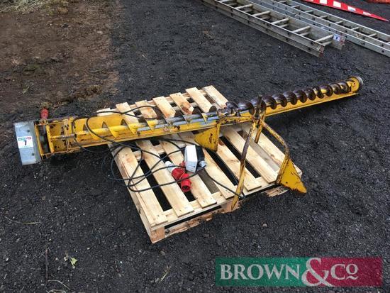 Sweep auger 3 inch diameter, 3ph