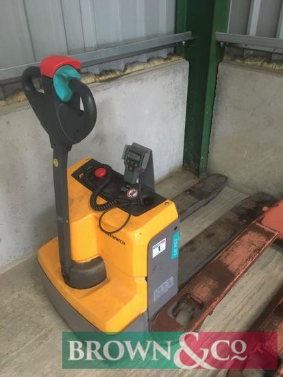 2016 Jungheinrich EJE M13 24v electric pallet truck with scales