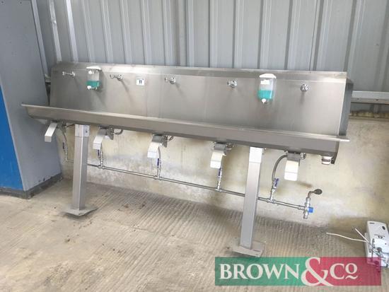 Hygeninox 5 station stainless steel handwash station