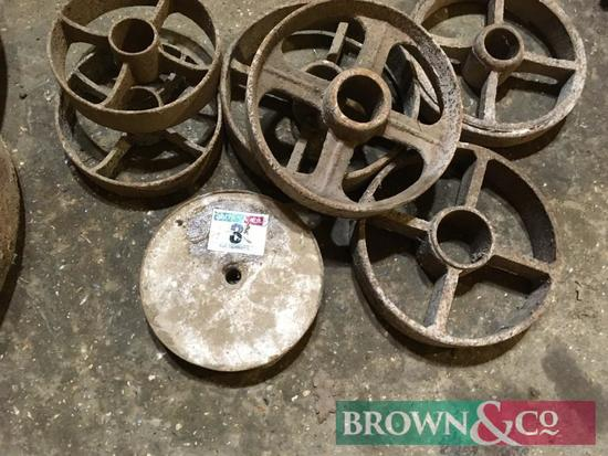 Qty. Cast Iron Wheels
