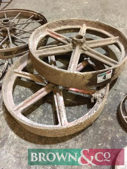 2 No. Cast Iron Wheels