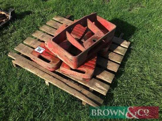 Massey Ferguson 165 weight frame with wafer weights