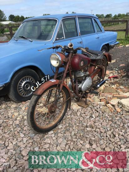 1958 James motorcycle with factory rebuilt engine c. 2 years ago