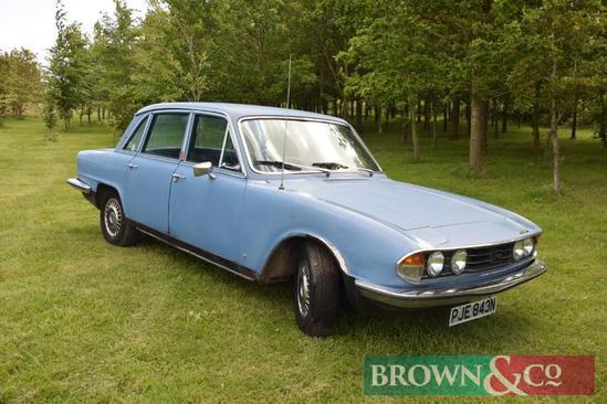 1974 Triumph 2500 Mk2 5 door car with MOT until December 2019. Reg No: PJE 843N. Mileage: 81,956