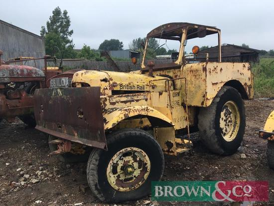 1960 Muir Hill 2wd ex-British Rail shunter tractor with Fordson Major engine on 12.00-24 rear wheels