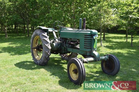 1936 John Deere Model BW with unstyled engine, 4 speed gearbox and rear styled tyres