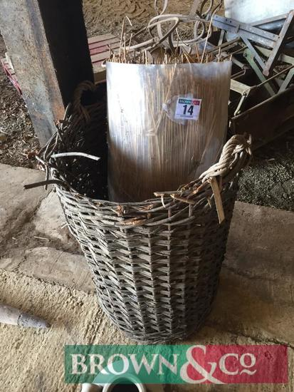 4 Bushel skip and bag of thatching straw