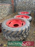 Set of Alliance Row Crop Wheels with Fendt Centres