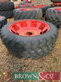 Pair of Alliance Row Crop Radial Wheels