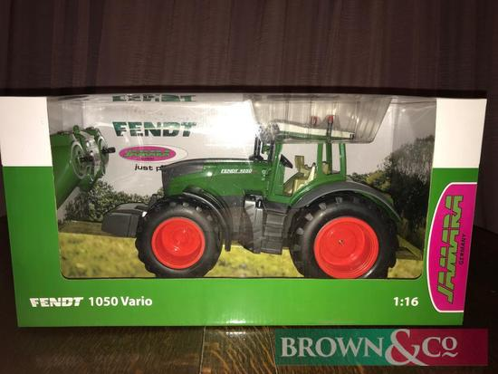 New Fendt 1050 remote control tractor. Collection from any Brown & Co office Kindly donated by