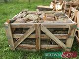 3 crates of stacked hard wood logs already split with delivery with 10 miles of PE6 9AF or