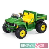 New John Deere HPX Ride-on kids electric gator. Smart Pedal Technology: coast and power brakes on