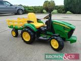 New John Deere Ground Force Tractor. Suitable for children ages 3-7 years. Comes with a detachable
