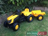 Rolly Toys kids Ride-on JCB Fastrac with trailer. Collection from any Brown & Co office. Kindly