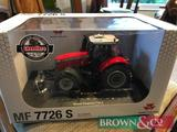 New and boxed 1:32 scale metal diecast Massey Ferguson 7726 S model tractor. Collection from any