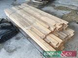 Quantity timber 54No 2.8m x 100mm x 40mm the long lengths in photo. Collection from Geaves Farm,