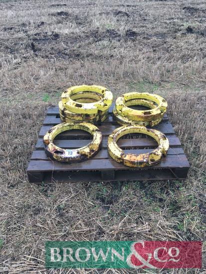 Quantity of John Deere wheel weights