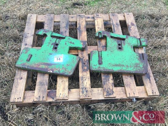 John Deere 50kg wafer weights (2)