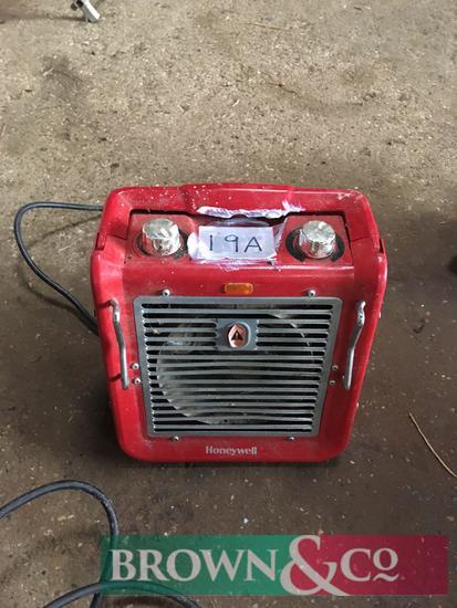 Honeywell single phase fan heater