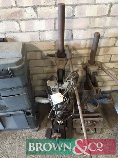 Vintage pillar drill with stand
