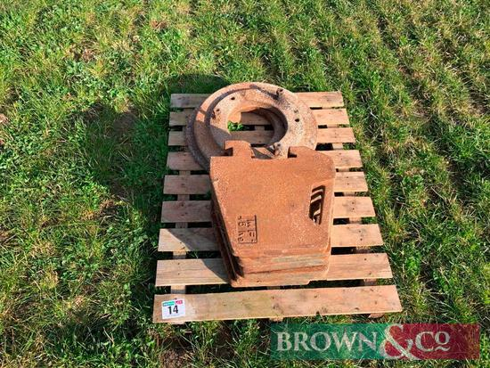 Qty Misc Tractor Wafer and Wheel Weights