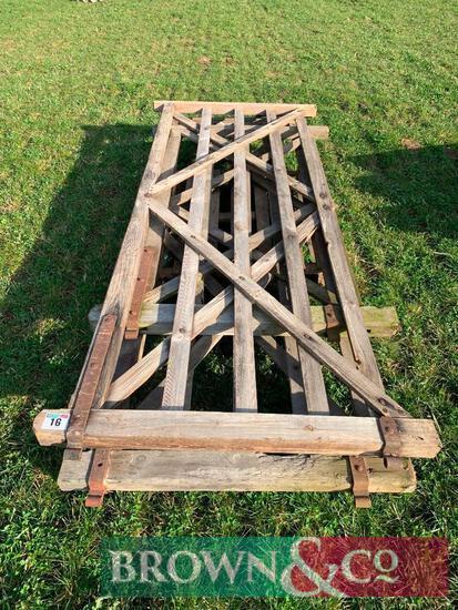 2 No. Wooden Gates