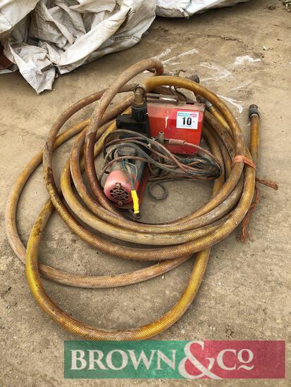 Fuel pump and hose