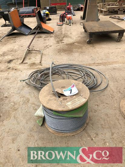 Quantity 8mm wire rope