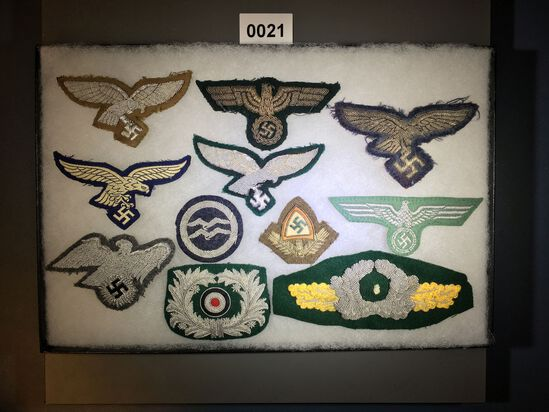 Wehrmacht and Navy officer eagle lot
