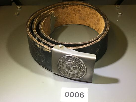 German belt with Army buckle. All items in lot photos are included.