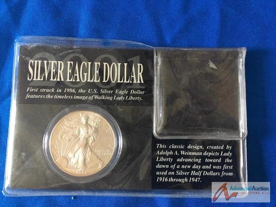 Silver Eagle Dollar 2001