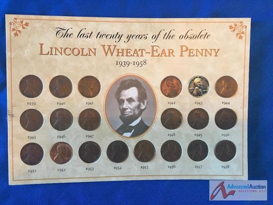 Lincoln Wheat- Ear Penny 1939-1958