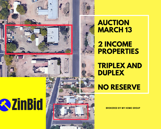 MARCH 13th REAL ESTATE AUCTION