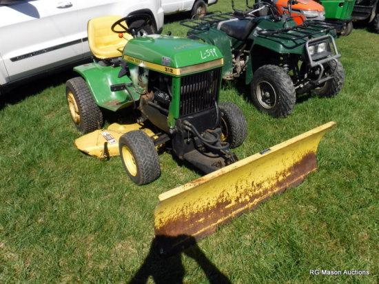 John Deere 316 Riding Lawn Mower | Heavy Construction
