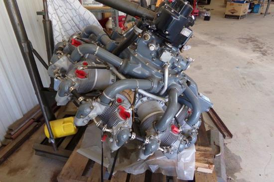 P&W 985-AN1 Engine 0 S.M.O.H. By Tulsa Aircraft Engines, Work Includes 9 NuChrome Cylinders, Rods &
