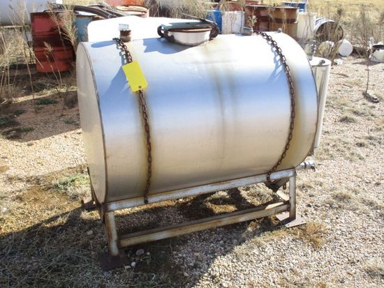 200 GAL STAINLESS STEEL TANK ON STAND