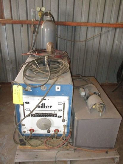 MILLER MDL 250 AC/DC HF GAS TUNGSTEN/ARC WELDER W/WATER COOLER