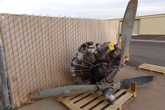 Crash Damaged R-1340-AN Engine