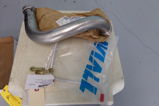 NEW LYCOMING #2 INTAKE PIPE LW12622, DRAIN LINE 7203 & MIXTURE LEVERS
