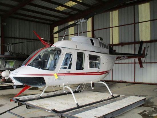 1985 BELL 206 L-3 HELICOPTER N-601SJ, 11,666 HRS. TOTAL TIME, ALLISON 250-C30P ENGINE, HIGH SKID GEA