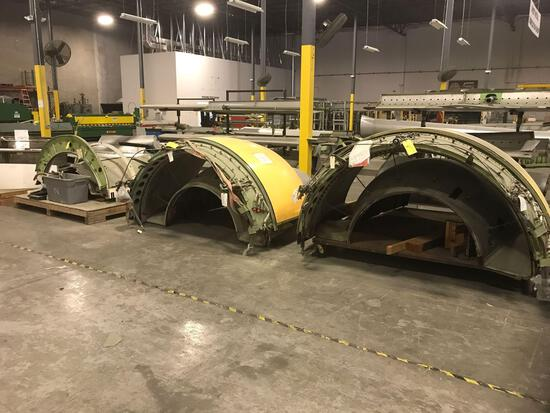 (2) MD11 & (1) 737 THRUST REVERSER SECTIONS (INCOMPLETE PARTS ONLY) NO TRACE