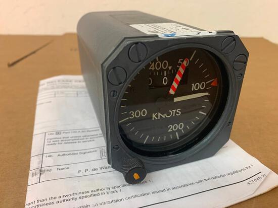 DHC-8 AEROSONIC AIRSPEED INDICATOR 21140-1134-2 [ALT: 8SC0109] (REPAIRED)