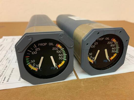 CASA CN-235 KRATOS PROP OIL TEMP & PRESS INDICATOR (1) 124.1007-1 (INSPECTED), (1) 124.1007