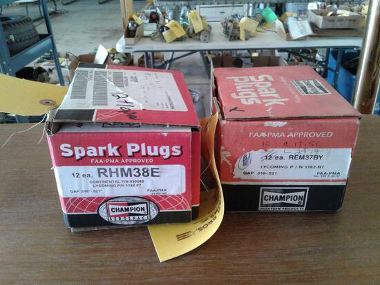 BOXES OF NEW SPARK PLUGS (8) REM37BY & (12) REM38E