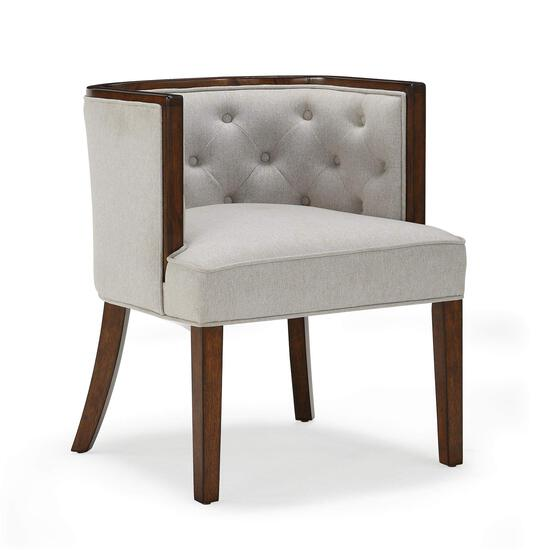 FlexLiving Accent Chairs, Dark Walnut