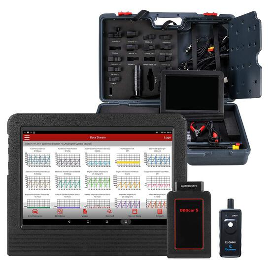 LAUNCH X431 V+ Actuation Test Diagnostic Scan Tool Bi-Directional Key ECU Coding Oil Reset SAS, BMS,