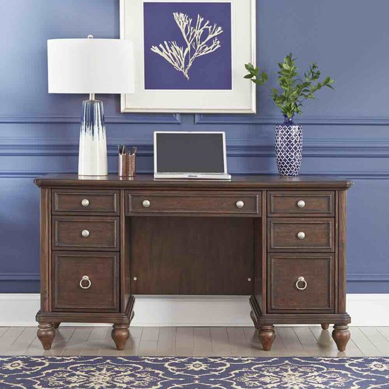 homestyles pedestal desk 5503 181( 2 boxes)