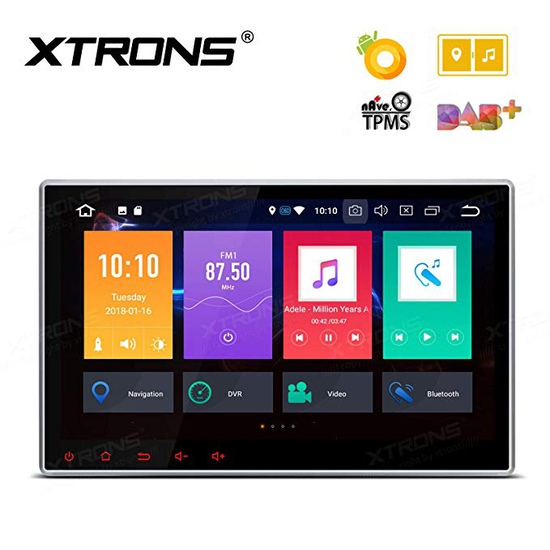 "10.1"" Octa-core Android 8.0 Gps Navigation Car Dvd In Dash 4gb Ram+32gb Rom Dab+"